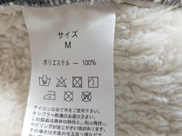 ScoLar(スカラー) コート サイズM レディース グレー×黒 iS ScoLar/冬物/刺繍