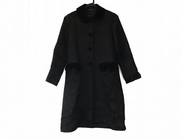 Jane Marple(ジェーンマープル) コート サイズM レディース美品  黒×ダークブラウン