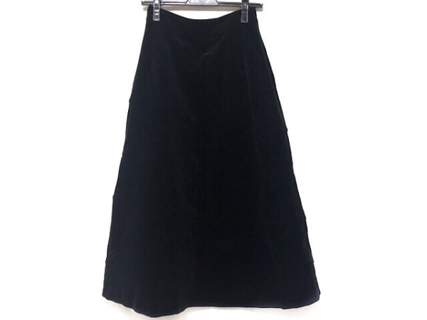 ジェーンマープル ロングスカート サイズM レディース美品  黒 ベロア/Dans Le Salon