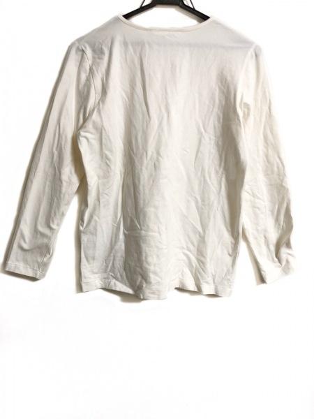 インゲボルグ 長袖Tシャツ サイズM レディース アイボリー×白×黒 リボン柄