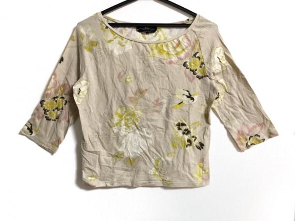 マックスマーラ 七分袖カットソー サイズL レディース ベージュ×マルチ 花柄
