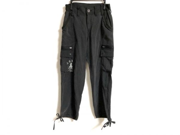 ヒステリックグラマー パンツ サイズS レディース 黒×ライトグレー