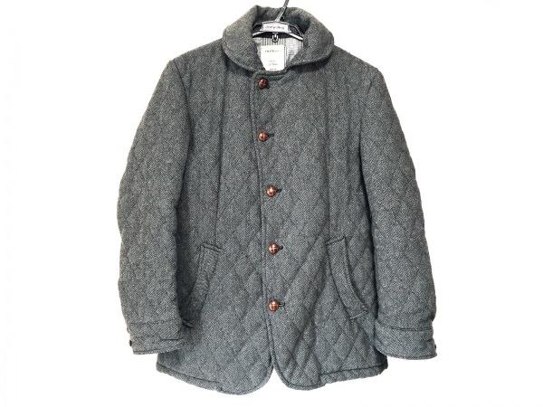 PIERBLANCA(ピアブランカ) ブルゾン サイズM メンズ グレー×黒 キルティング/冬物