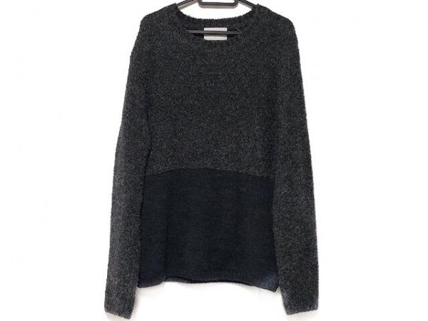 Seagreen(シーグリーン) 長袖セーター サイズ3 L メンズ美品  ダークグレー×黒