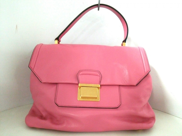 miumiu(ミュウミュウ) ハンドバッグ美品  - RN1078 ピンク レザー