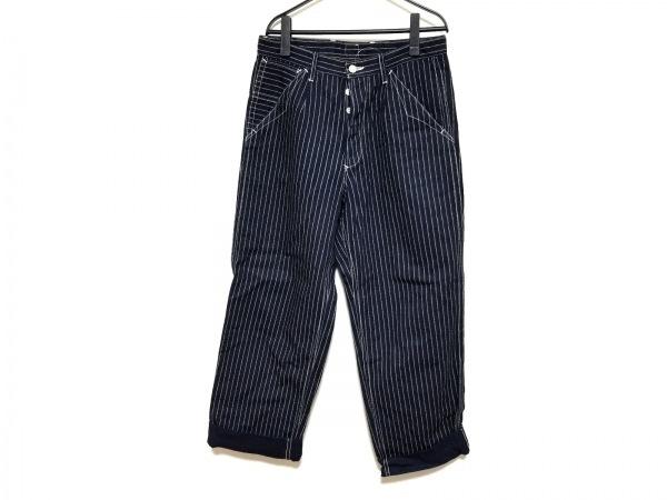 MARKAWARE(マーカウェア) パンツ サイズ1 S レディース ネイビー×白 ストライプ