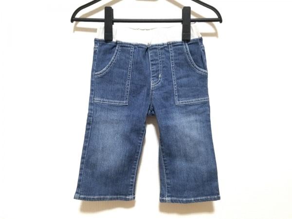 miki HOUSE(ミキハウス) ジーンズ サイズ130 ユニセックス ネイビー×白 子供服