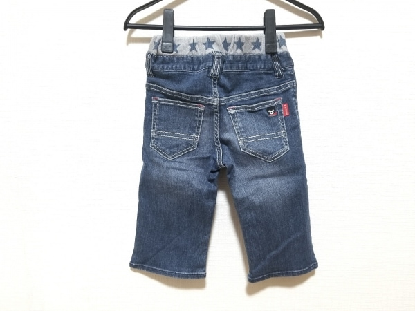 ミキハウス ジーンズ サイズ130 ユニセックス ネイビー×ライトグレー 子供服/スター