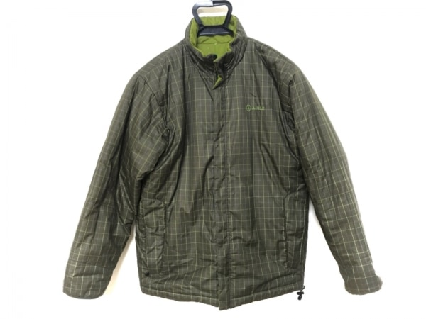 AIGLE(エーグル) ダウンジャケット サイズS メンズ グリーン リバーシブル/冬物