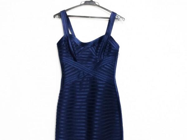 ビーシービージーマックスアズリア ドレス サイズ02 M レディース美品  ネイビー