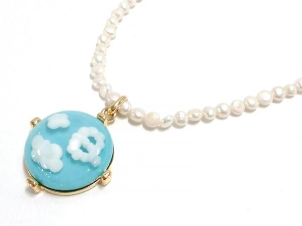 Q-pot.(キューポット) ネックレス美品  フェイクパール×金属素材