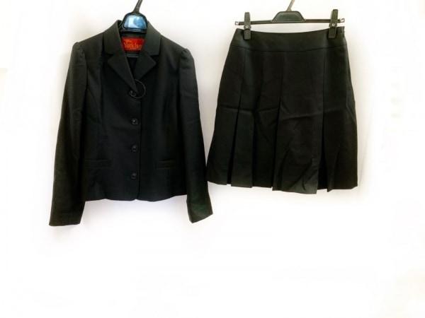ヨークランド スカートスーツ サイズ11 AR レディース美品  黒×ダークネイビー
