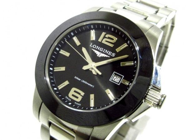 LONGINES(ロンジン) 腕時計美品  コンクエスト L3.257.4 レディース 黒