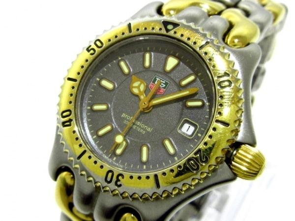 タグホイヤー 腕時計 プロフェッショナル200 WG1320-2 レディース ダークグレー