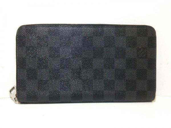 ルイヴィトン 長財布 ダミエグラフィット美品  ジッピー・オーガナイザー N63077