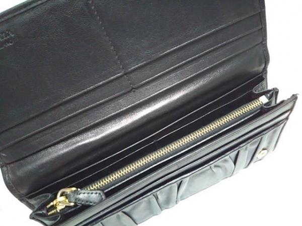 PRADA(プラダ) 長財布 ギャザーウォレット 1M1132 黒 レザー
