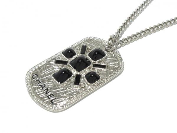CHANEL(シャネル) ネックレス美品  金属素材×プラスチック シルバー×黒