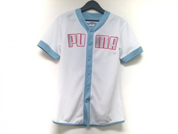SOPHIA WEBSTER(ソフィアウェブスター) カーディガン メンズ 白×ライトブルー PUMA