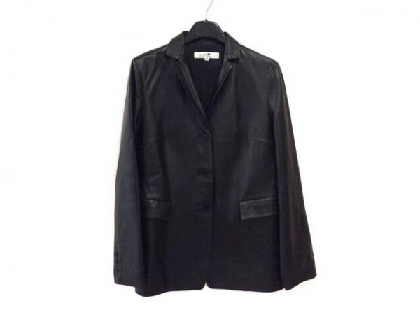 23区(ニジュウサンク) ジャケット サイズ38 M レディース 黒 レザー