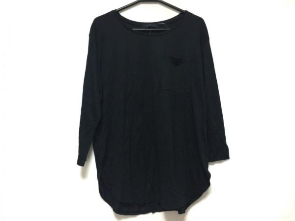 la.f...(ラ・エフ) 七分袖Tシャツ サイズ2 S レディース美品  黒