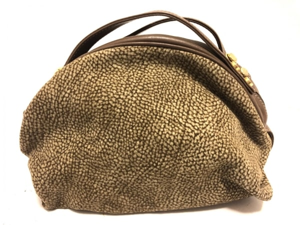 レッドウォールボルボネーゼ ハンドバッグ美品  アイボリー×ブラウン ミニサイズ