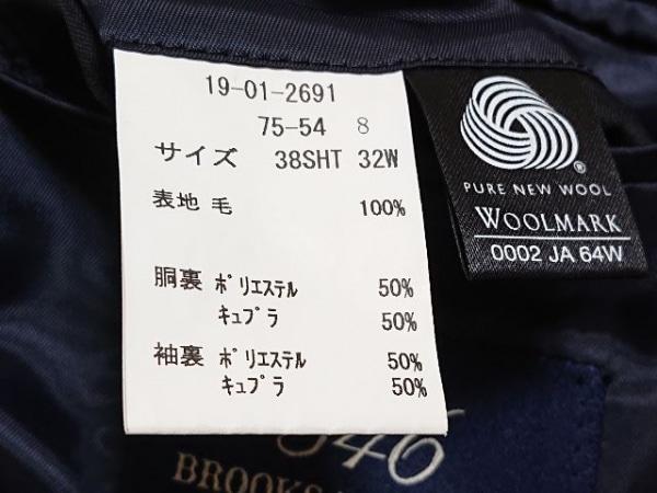 ブルックスブラザーズ シングルスーツ サイズ38SHT/32W メンズ 黒 ストライプ/346