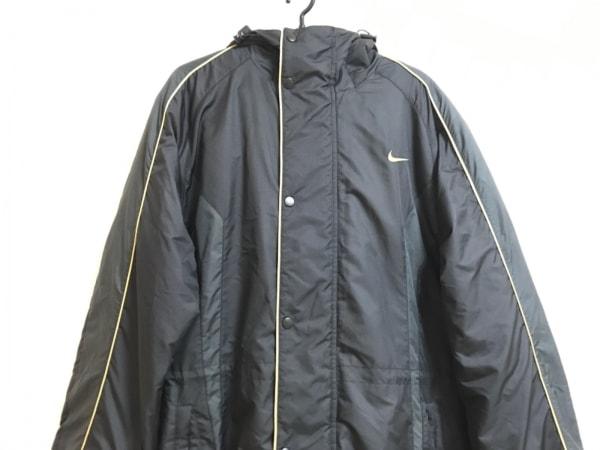 NIKE(ナイキ) コート サイズL メンズ 黒×ゴールド ベンチコート/冬物