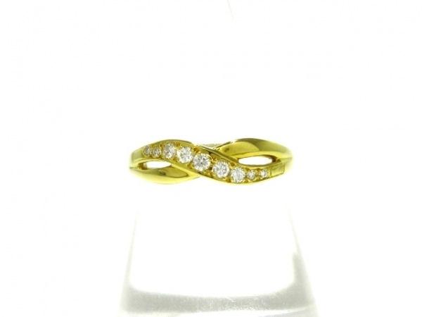 mikimoto(ミキモト) リング美品  K18YG×ダイヤモンド 9Pダイヤ/0.11カラット