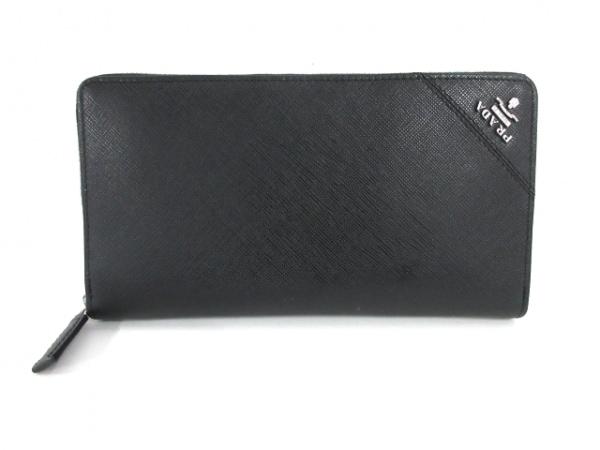 PRADA(プラダ) 長財布美品  - 2ML188 黒 ラウンドファスナー レザー
