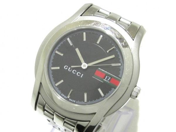 GUCCI(グッチ) 腕時計 Gクラス 5500XL/YA055212 メンズ 黒
