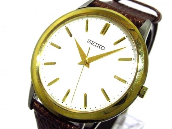 SEIKO(セイコー) 腕時計 8J41-0AM0 メンズ アイボリー