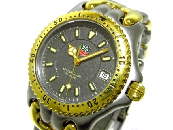 タグホイヤー 腕時計美品  プロフェッショナル200 WG1220-K0 ボーイズ ダークグレー