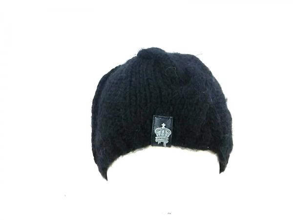 CHRISTYS'(クリスティーズ) ニット帽 ONE SIZE 黒 CROWN SERIES 化学繊維×ウール