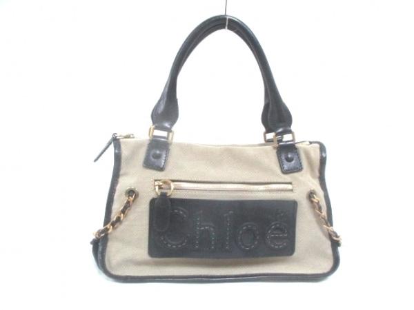 Chloe(クロエ) ハンドバッグ ハーレー ベージュ×黒 ジャガード×レザー