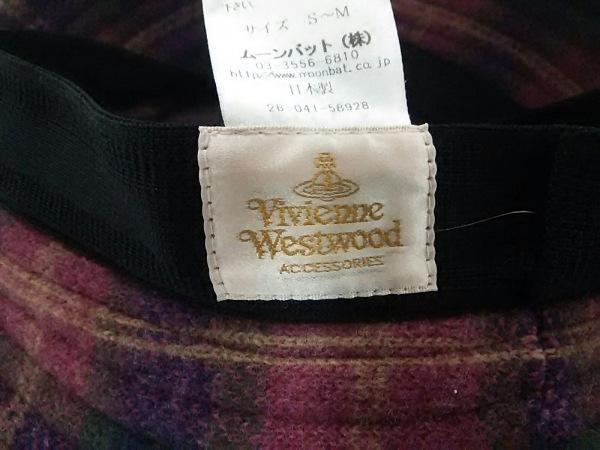 ヴィヴィアンウエストウッドアクセサリーズ ハット S~M美品  チェック柄 ウール