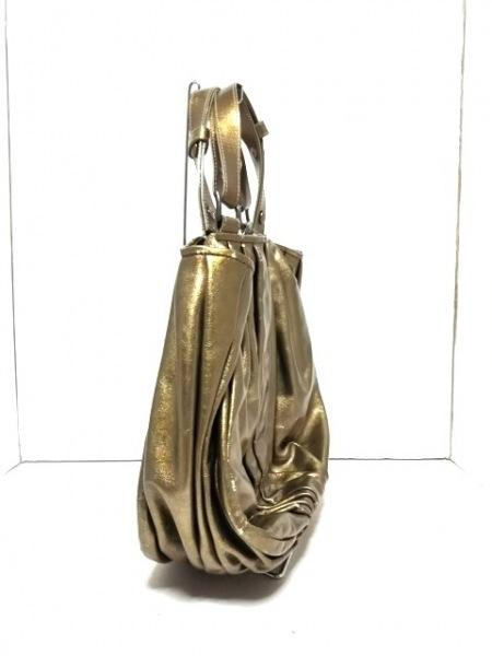 ARISTOLASIA(アリストラジア) ハンドバッグ ゴールド 合皮