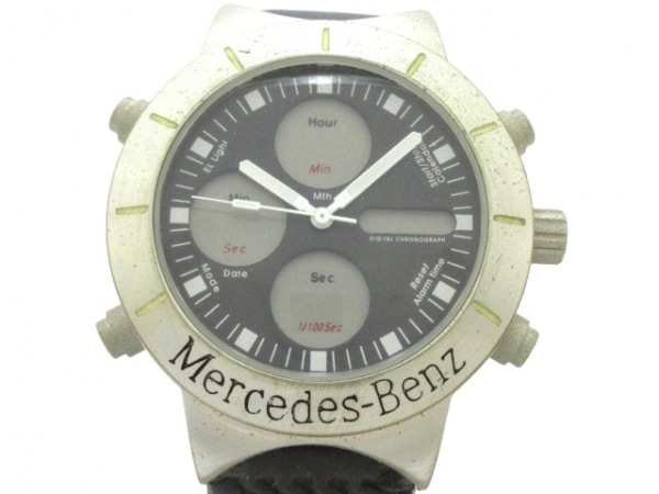 Mercedes-Benz(メルセデスベンツ) 腕時計 - メンズ ラバーベルト 黒