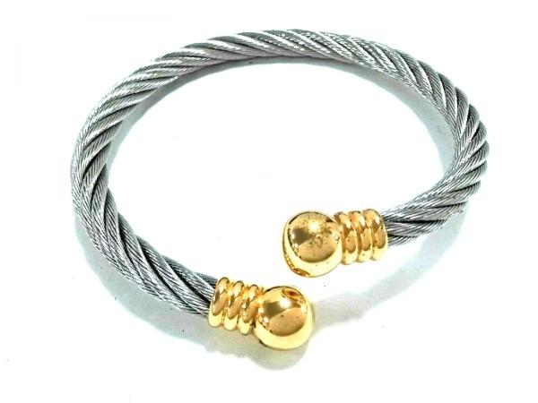 ABISTE(アビステ) バングル美品  金属素材 シルバー×ゴールド