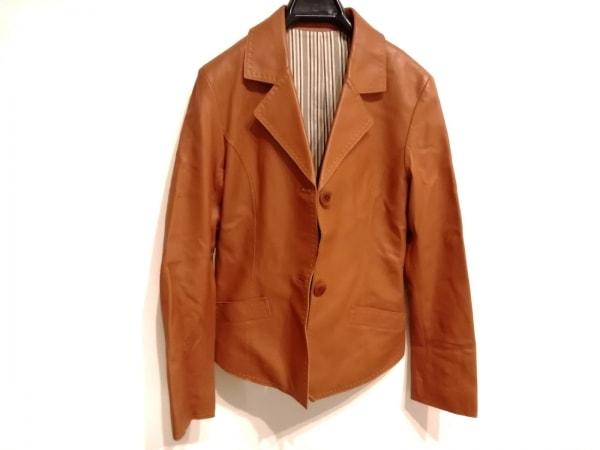genten(ゲンテン) ジャケット サイズ38 M レディース新品同様  ブラウン ラムレザー