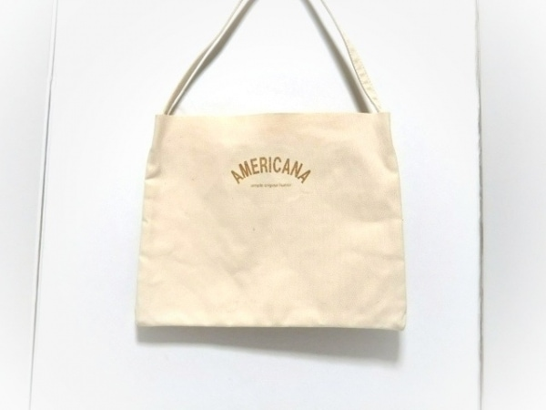 TEMBEA(テンベア) トートバッグ アイボリー Americana キャンバス
