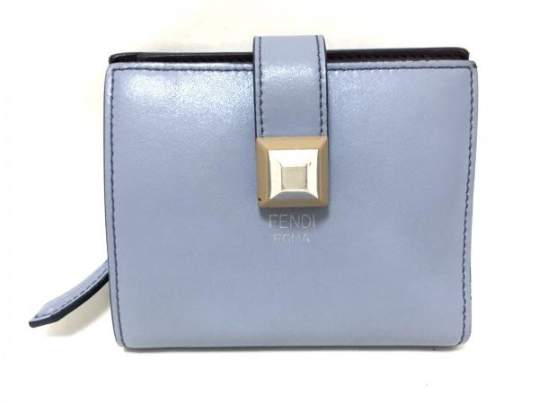 FENDI(フェンディ) 2つ折り財布 - 8M0386 パープル レザー
