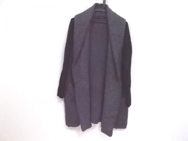 SCOTCLUB(スコットクラブ) コート サイズ9 M レディース グレー×黒 ニット/春・秋物