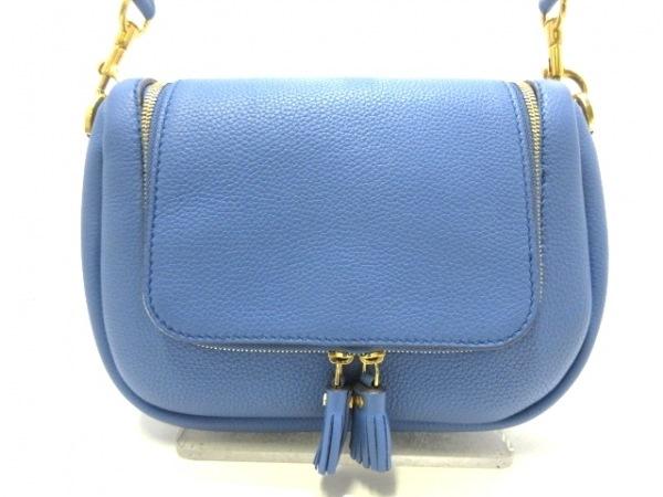アニヤハインドマーチ ショルダーバッグ美品  Vere Small Soft Satchel 986991 ブルー