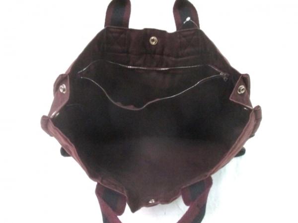 エルメス トートバッグ フールトゥトートMM 黒×ダークブラウン×ボルドー キャンバス
