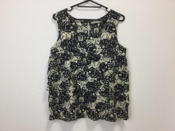 NE QUITTEZ PAS(ヌキテパ) チュニック レディース美品  黒×ベージュ 花柄