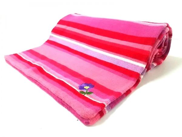 ポールスミスウィメン マフラー美品  ピンク×パープル×レッド ボーダー