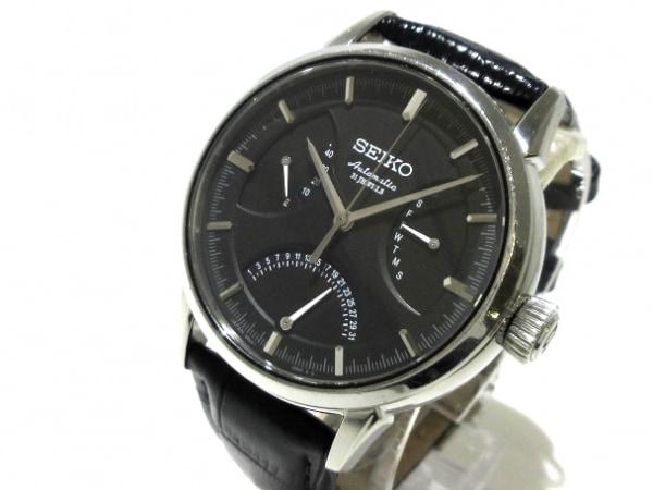 SEIKO(セイコー) 腕時計 プレザージュ 6R24-00C0 メンズ 黒