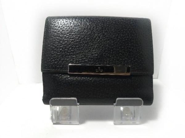 f35f31b5d972 GUCCI(グッチ) Wホック財布 - - 黒 レザー(13399512)中古|ブランド ...
