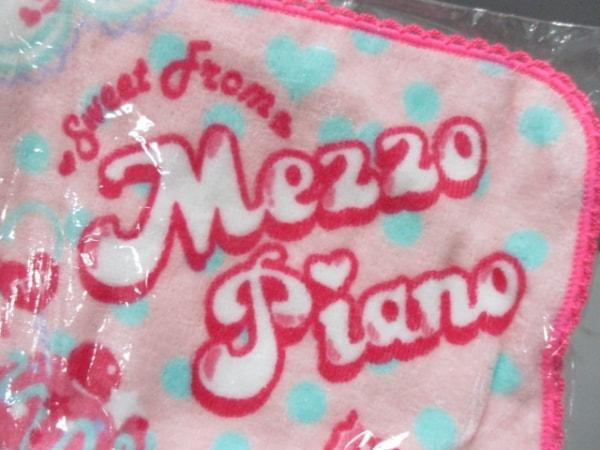 メゾピアノ 小物新品同様  ピンク×ライトブルー×マルチ リボン/ミニタオル パイル