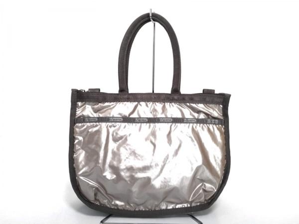 LESPORTSAC(レスポートサック) トートバッグ新品同様  ピンク×グレー 化学繊維